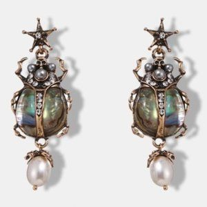 Antique gold insects earrings